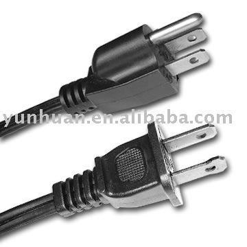 Fil électrique d'alimentation cordon électricité câble d'alimentation CA USA
