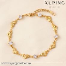 71804 Xuping Fashion Woman Bracelet com banhado a ouro
