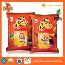 Sachet de pommes de terre de qualité alimentaire coloré sacs d'emballage en plastique snacks