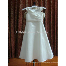 Weißes nettes Blumen-Mädchen-Kleid-FG321