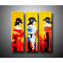 Peinture graphique abstraite moderne peinte à la main