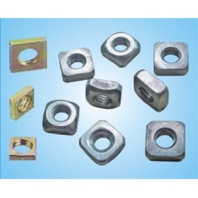 Custom DIN metal square nut without chamfer