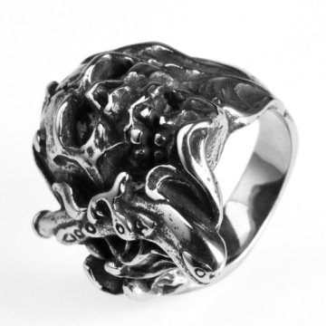 Fashion jewelry Vintage skull ring for young people