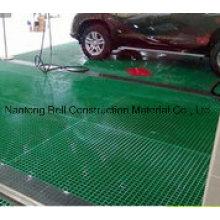 Fiberglass Grating/Gritted FRP Flooring, FRP Grating for Carwash.