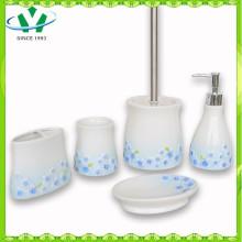 2015 Heißer Verkaufs-keramischer Badezimmer-Zusatz mit blauer Sinensis-Blume