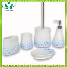 2015 Горячий керамический аксессуар для ванной комнаты с голубым цветком Sinensis