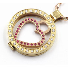 Best Selling 316L Stainless Steel Locket Pendant with Clear CZ