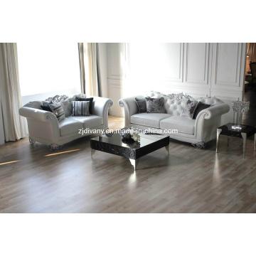 Neo-antiguo moderno blanco de cuero tela sofá (1109A LS & B & C)