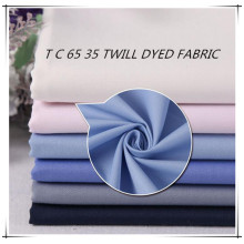 T 65 C 35 Dyed Twill Garment Fabric