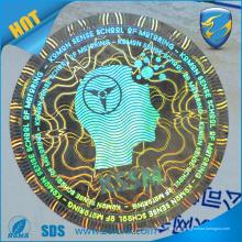 Etiqueta engomada del holograma 3d de la alta calidad, etiqueta engomada vacía del holograma de la seguridad de la impresión ultravioleta