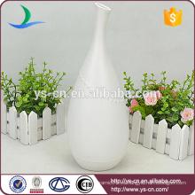 YSv0154-01 jarrón de cerámica porcelana blanco para la decoración