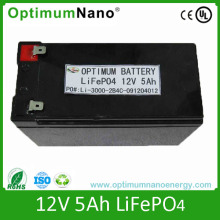 Rechargeable 12V 5ah LiFePO4 Battery for Flashlight