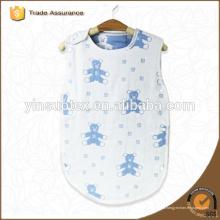 100% algodón swaddle años bebé envoltura gasa gruesa swaddle