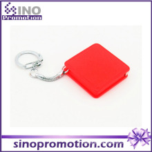 Custom Fashion Mini Cute 100 Meter Retractable Plastic Tapeline