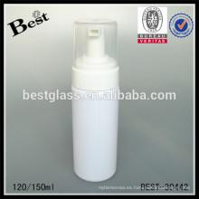 Botellas espumantes redondas opacas 120 / 150ml con el casquillo, bomba de la botella de la espuma del animal doméstico / de los pp, bomba de la botella de la espuma de la bomba de la espuma