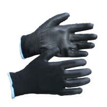NMSAFETY EN388 4131 safe hand black pu coated gloves