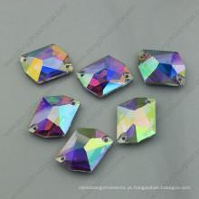 Pedras soltas ab pedras planas de cristal de volta (dz-3070)