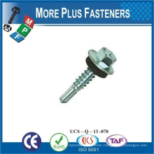 Made in Taiwan Aluminum hex flange head self drilling screw