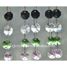 Venta al por mayor cristal octágono cuentas cadenas