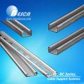 Canal de extensão de aço padrão Unistrut no tamanho 1-5 / 8 '' x 13/16 '' (UL, cUL, CE, IEC, NEMA)