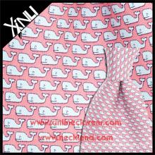 Tissu cravate italienne en gros de tissu de sergé de 18MM d'impression faite sur commande