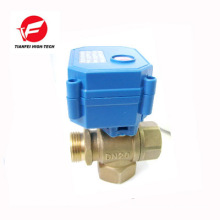 CWX-15N 3 way vertical type T-type DN20 brass male-female-feamle DC12V CR04 normally closed 3 way motorized valve