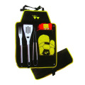 BBQ set in apron with glove