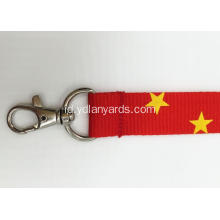 Customized Exhibition Silk Screen Printed Logo Lanyards