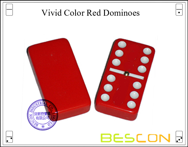 Vivid Color Red Dominoes