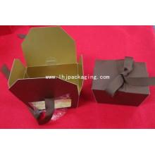 Caja de papel de regalo de embalaje Trapezoid de alta calidad con ventana de plástico