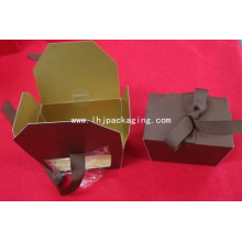High Quality Trapezoid Packaging Gift Paper Box with Plastic Window