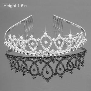 Tudo Crystal Clear Rhinestone Princess Coroas