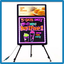 2015 best selling low price tempered glass remote control advertising writing board with light box