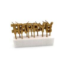 Парафиновый воск Золотой Металлик Письмо торт Свеча