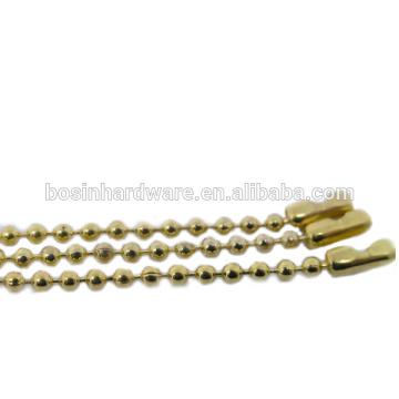 Papular alta qualidade Metal 3 milímetros bola Cadeia Antique Brass Necklace
