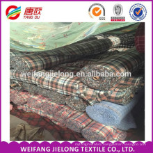 yarn dyed polyester cotton plaid flannel fabric wholesale China Wholesale Cheap Bulk 100% Cotton Yarn Dyed Plaid Flannel Shirt