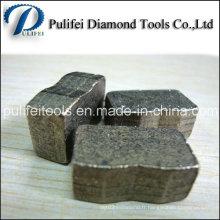 1000mm 2000mm 3000mm a scié le segment de coupe de diamant de lame pour le granit