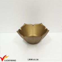 Fantastic Golden Flower Shaped Small Handmade Wooden Bowls