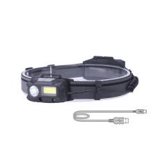 ABS USB wiederaufladbarer Sensor COB LED-Scheinwerfer