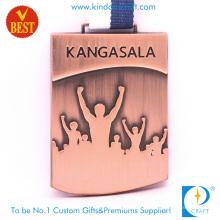China Medalha de Kangasala 3D personalizado barato em antigo carimbo de cobre