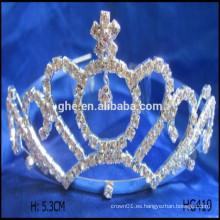 El desfile del Rhinestone corona las tiaras de la vendimia tiara accesorio mini tiara peines