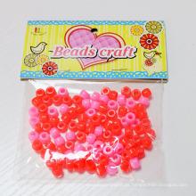 Großhandel Kunststoff Perlen Großhandel China, bunte große Loch Kunststoff Perlen