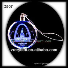 Ornamento do diodo emissor de luz do cristal do laser K9