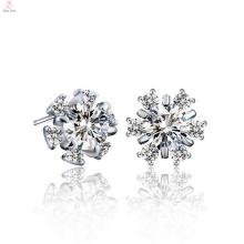 Custom 925 Sterling Silver Flower Earring Jewelry