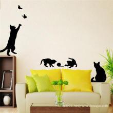 MOQ 500 Removable 3d Cat Animal Wall Sticker Decoration