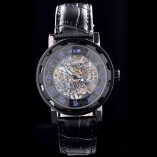 chinese movement winner skeleton western mechanical watch