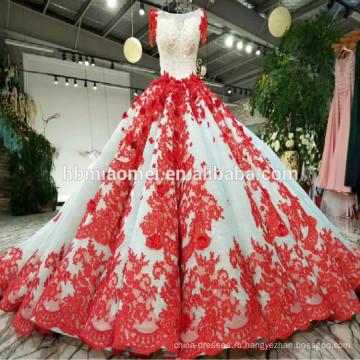 2018 последние конструкции свадебное платье, пышные свадебные платья красный роскошный свадебные платья