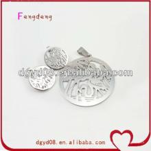silver jewelry set earrings pendant set