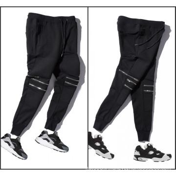 Knee Zipper Plain Pants Casual Jodder Pantalons