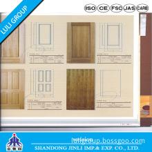 HDF/MDF 3mm Natural Teak Veneer Molded Door Skin